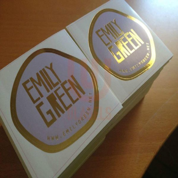 021oem hot foil sticker gold stamping sticker label printing ulabels.com 1 1 600x600 - چاپ لیبل