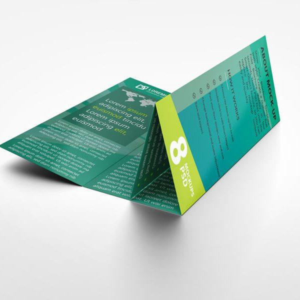 25 roll fold brochure mockup 09 600x600 - چاپ بروشور