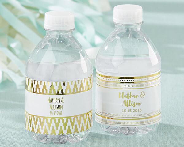 31673GD water bottle labels gold foil prs mwf l - چاپ لیبل