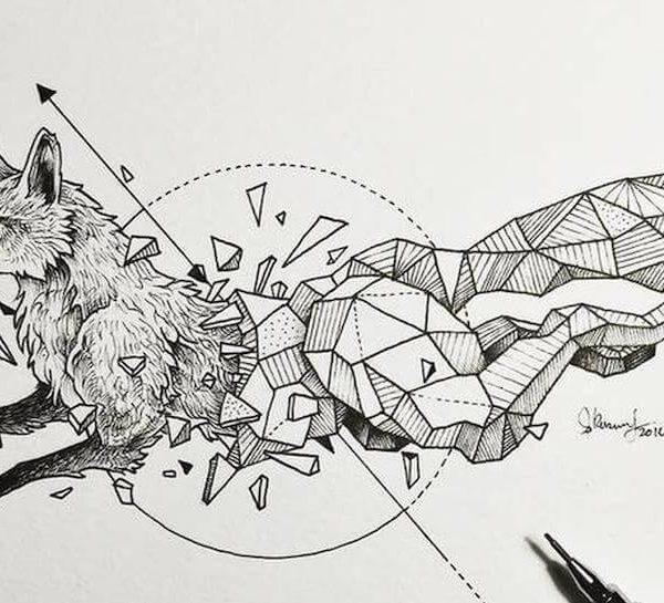 Abstract Geometric Animal Illustrations By Kerby R lanczos3 600x545 - تصویر سازی