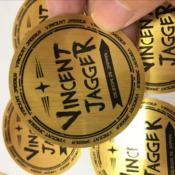 Custom Printing Gold Sliver Permanent Adhesive Foil Paper Labels Sticker 600x600 - چاپ لیبل