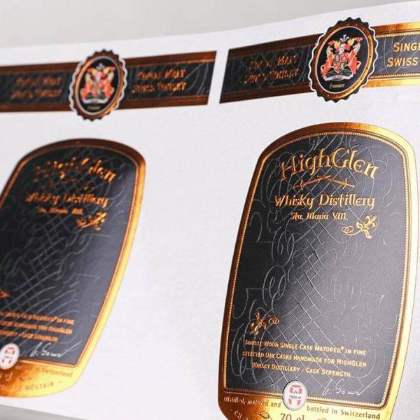 Custom Product Labels Copper Hotfoil 600x600 - چاپ لیبل