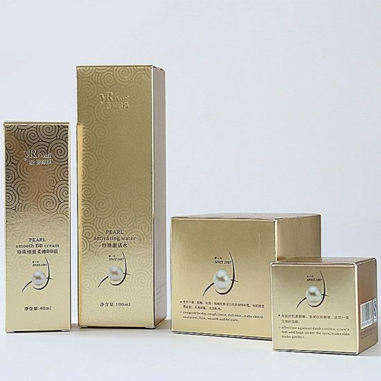 Fancy Gold Glossy Printing Foldable Cosmetic Gift Set Packaging Box - طلاکوب چیست