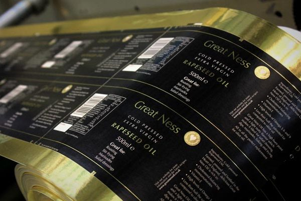 Great Ness Rapeseed Oil 600x400 - چاپ لیبل
