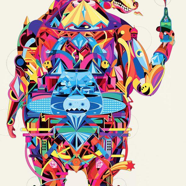 YoAz Rainbow 07 600x600 - تصویر سازی