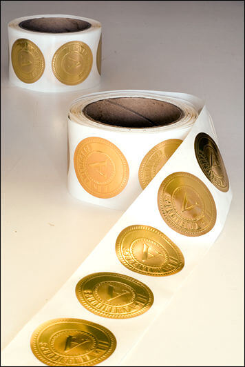 ac gold foil stickers custom gold seal stickers bf digital printing custom gold seal stickers - چاپ لیبل