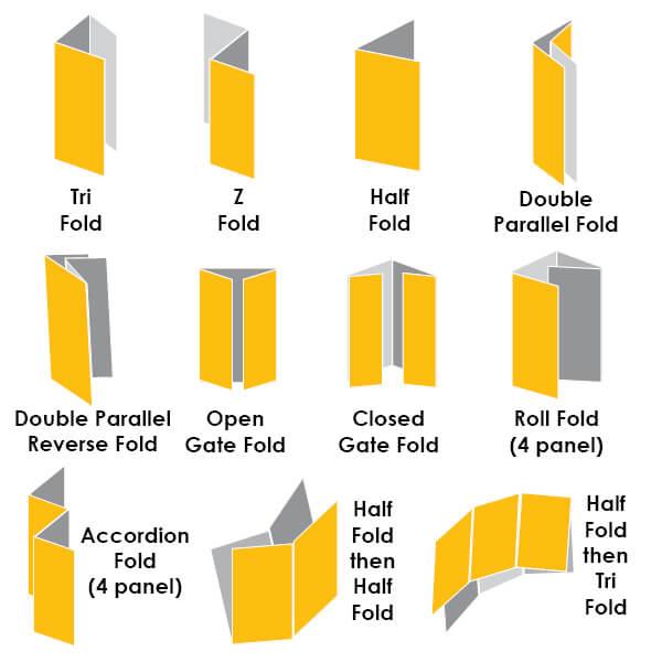 brochure folds2 - چاپ بروشور