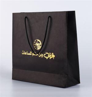 custom famous brand 200gsm black paper bag21345068650 - طلاکوب چیست