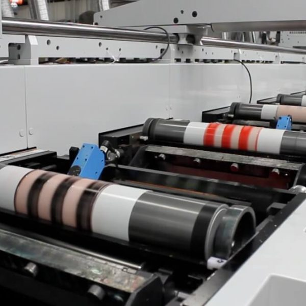 flexographic plates on Mark Andy press at Great Lakes Label 600x600 - فلکسو