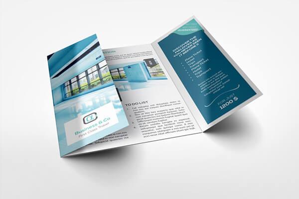 fold brochure template 141435 - چاپ بروشور