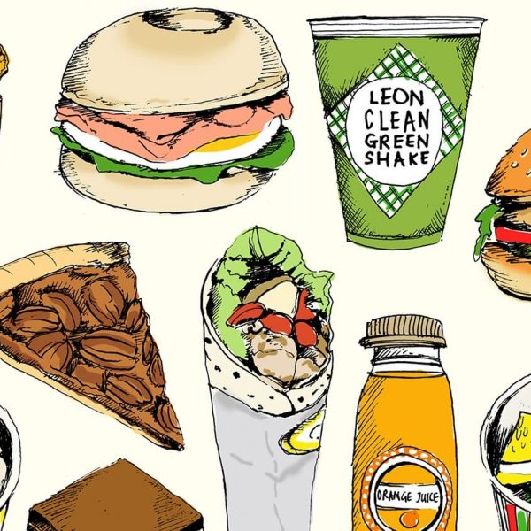 food illustration social 600x600 - تصویر سازی