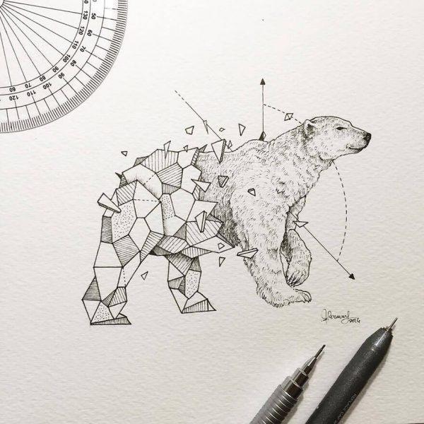 geometric animal drawings wild beasts illustrations kerby rosanes 23  880 600x600 - تصویر سازی