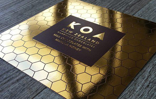 packaging gold foil 600x381 - چاپ لیبل