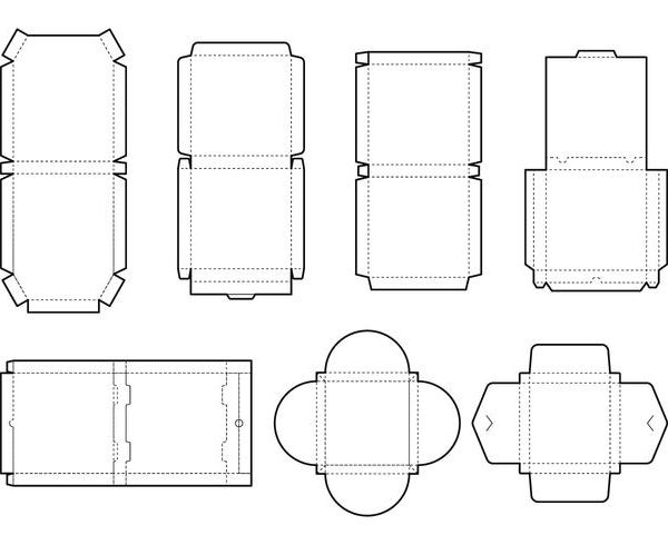 vector pizza box layout 600x490 - چاپ کارتن